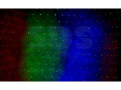 Гирлянда - сеть 1х1, 5м, черный ПВХ, 160 LED Мультиколор
