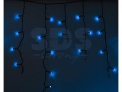 Гирлянда Айсикл (бахрома) светодиодный, 2, 4 х 0, 6 м, черный провод, 220В, диоды синие, NEON-NIGHT