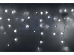 Гирлянда Айсикл (бахрома) светодиодный, 2, 4 х 0, 6 м, белый провод, 220В, диоды белые