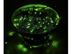 """Гирлянда """"Твинкл Лайт"""" 10 м, черный ПВХ, 100 диодов, цвет зеленый"""