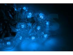 Гирлянда LED Galaxy Bulb String 10м, белый ПВХ, 25 ламп*6 LED СИНИЕ, влагостойкая IP54