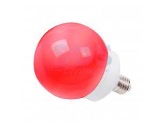 Лампа шар e27 12 LED ∅100мм красная