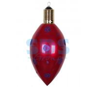 """Елочная фигура """"Клубничка"""" 40 см, цвет бордовый"""