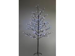 """Дерево комнатное """"Сакура"""", коричневый цвет ствола и веток, высота 1. 5 метра, 120 светодиодов белого цвета, трансформатор IP44 NEON-NIGHT"""