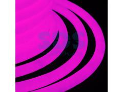 Гибкий Неон LED 360 - розовый, бухта 50м