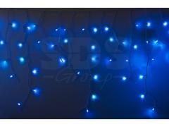 Гирлянда Айсикл (бахрома) светодиодный, 2, 4 х 0, 6 м, белый провод, 220В, диоды синие