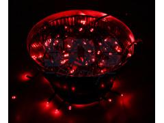 """Гирлянда """"Твинкл Лайт"""" 10 м, черный ПВХ, 100 диодов, цвет красный"""