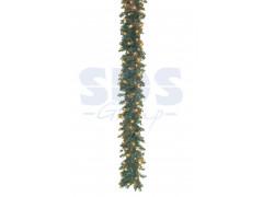 Еловый шлейф искуственный 2, 7 м с лампочками