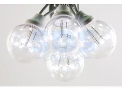 Гирлянда LED Galaxy Bulb String 10м, черный КАУЧУК, 30 ламп*6 LED БЕЛЫЕ, влагостойкая IP54