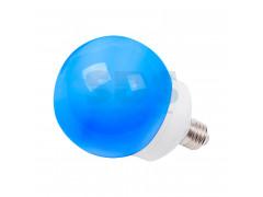Лампа шар e27 12 LED ∅100мм синяя