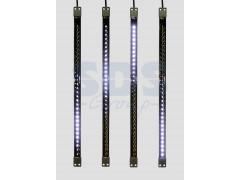 Сосулька светодиодная 50 см, 9, 5V, двухсторонняя, 32х2 светодиодов, пластиковый корпус черного цвета, цвет светодиодов белый