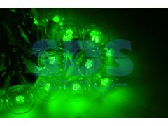 Гирлянда LED Galaxy Bulb String 10м, черный КАУЧУК, 30 ламп*6 LED ЗЕЛЕНЫЕ, влагостойкая IP54
