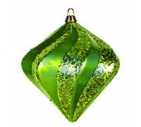 "Елочная фигура ""Алмаз"", 25 см, цвет зеленый"