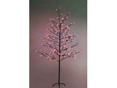 """Дерево комнатное """"Сакура"""", коричневый цвет ствола и веток, высота 1. 5 метра, 120 светодиодов красного цвета, трансформатор IP44 NEON-NIGHT"""