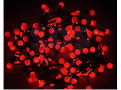 """Гирлянда """"Мультишарики"""" Ø17, 5мм, 20 м, черный ПВХ, 200 диодов, цвет красный"""