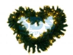 Еловый шлейф искуственный 2, 7 м тепло-белые светодиоды