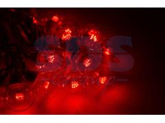 Гирлянда LED Galaxy Bulb String 10м, черный КАУЧУК, 30 ламп*6 LED КРАСНЫЕ, влагостойкая IP54