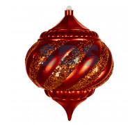 "Елочная фигура ""Лампа"", 20 см, цвет красный"
