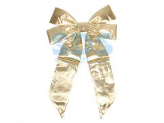 """Елочная фигура """"Бантик"""" 45 см, цвет золотой"""
