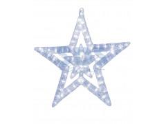 """Акриловая светодиодная фигура """"Звезда"""" 62 см, 62х59х2, 5см, 63 светодиода, IP44 понижающий трансформатор в комплекте, NEON-NIGHT"""