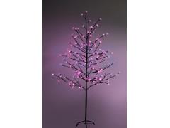 """Дерево комнатное """"Сакура"""", коричневый цвет ствола и веток, высота 1. 5 метра, 120 светодиодов розового цвета, трансформатор IP44 NEON-NIGHT"""