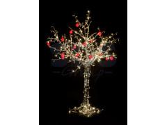 """Светодиодное дерево """"Яблоня"""", высота 1. 2м, 8 красных яблок, тепло-белые светодиоды, IP 54, понижающий трансформатор в комплекте, NEON-NIGHT"""