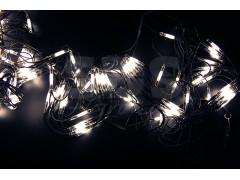 Гирлянда - сеть 2x1, 5м, черный КАУЧУК, 288 LED Белые
