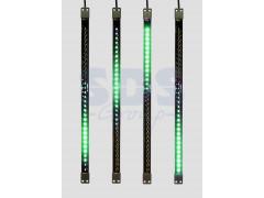 Сосулька светодиодная 50 см, 9, 5V, двухсторонняя, 32х2 светодиодов, пластиковый корпус черного цвета, цвет светодиодов зеленый