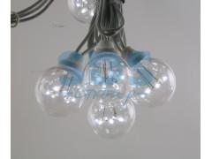Гирлянда LED Galaxy Bulb String 10м, белый КАУЧУК, 30 ламп*6 LED БЕЛЫЕ Партия NN на ПВХ, 25 ламп, влагостойкая IP54