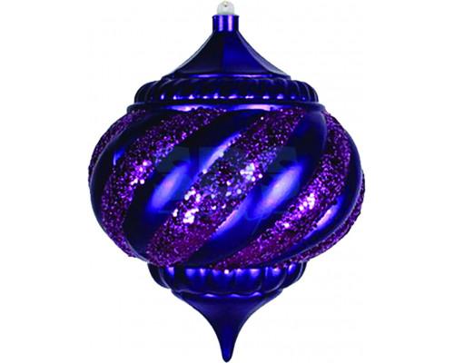 "Елочная фигура ""Лампа"", 20 см, цвет фиолетовый 502-207"
