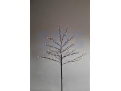 """Дерево комнатное """"Сакура"""", коричневый цвет ствола и веток, высота 1. 2 метра, 80 светодиодов белого цвета, трансформатор IP44 NEON-NIGHT"""