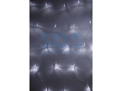Гирлянда - сеть 1, 5х1, 5м, прозрачный ПВХ, 150 LED Белые