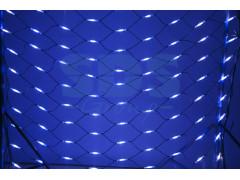 Гирлянда - сеть 2x1, 5м, черный КАУЧУК, 288 LED Белые/Синие