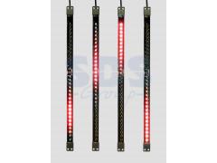 Сосулька светодиодная 50 см, 9, 5V, двухсторонняя, 32х2 светодиодов, пластиковый корпус черного цвета, цвет светодиодов красный