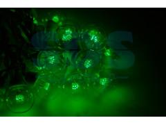 Гирлянда LED Galaxy Bulb String 10м, белый КАУЧУК, 30 ламп*6 LED ЗЕЛЕНЫЕ, влагостойкая IP54