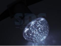 Лампа шар e27 10 LED ∅50мм белая 24В