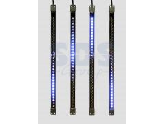Сосулька светодиодная 50 см, 9, 5V, двухсторонняя, 32х2 светодиодов, пластиковый корпус черного цвета, цвет светодиодов синий