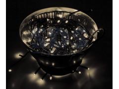 """Гирлянда """"Твинкл Лайт"""" 10 м, черный ПВХ, 100 диодов, цвет теплый белый"""