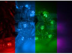 Гирлянда LED Galaxy Bulb String 10м, белый КАУЧУК, 30 ламп*6 LED МУЛЬТИ, влагостойкая IP54