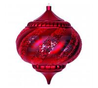 "Елочная фигура ""Лампа"", 25 см, цвет красный"