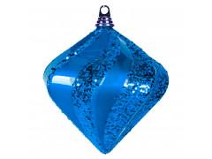"Елочная фигура ""Алмаз"", 25 см, цвет синий"
