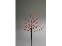 """Дерево комнатное """"Сакура"""", коричневый цвет ствола и веток, высота 1. 2 метра, 80 светодиодов красного цвета, трансформатор IP44 NEON-NIGHT"""