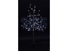 """Дерево комнатное """"Сакура"""", ствол и ветки фольга, высота 1. 2 метра, 80 светодиодов белого цвета, трансформатор IP44 NEON-NIGHT"""