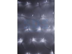 Гирлянда - сеть 1, 8х1, 5м, прозрачный ПВХ, 180 LED Белые