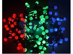 """Гирлянда """"Мультишарики"""" Ø23 мм, 10 м, черный ПВХ, 80 диодов, цвет RGB"""