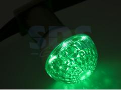 Лампа шар e27 10 LED ∅50мм зеленая 24В
