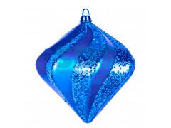 "Елочная фигура ""Алмаз"", 15 см, цвет синий"