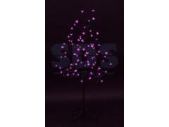 """Дерево комнатное """"Сакура"""", коричневый цвет ствола и веток, высота 1. 2 метра, 80 светодиодов розового цвета, трансформатор IP44 NEON-NIGHT"""