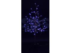 """Дерево комнатное """"Сакура"""", ствол и ветки фольга, высота 1. 2 метра, 80 светодиодов синего цвета, трансформатор IP44 NEON-NIGHT"""