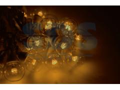 Гирлянда LED Galaxy Bulb String 10м, белый ПВХ, 25 ламп*6 LED ЖЕЛТЫЕ, влагостойкая IP54